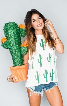 Two things I love: piñatas and cacti.