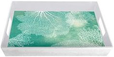 Melamine Tray With Sea Fan Coral Design - North Breeze Fan Coral, Melamine Tray, Coral Design, Breeze, Coastal, Tapestry, Sea, Home Decor, Hanging Tapestry