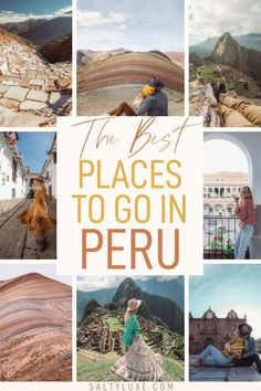 Find a complete Peru travel guide including the best places to stay, places to eat, and things to do in Cusco, Machu Picchu, and Sacred Valley. Plus get tips on how to visit Rainbow Mountain in Peru | peru travel guide trips | best things to do in peru bucket lists | peru travel beautiful places | beautiful places in peru | top things to do in cusco peru | machu picchu peru travel | sacred valley peru | rainbow mountain peru | peru travel itinerary | peru travel tips South America Destinations, South America Travel, Travel Destinations, Cool Places To Visit, Places To Go, Honeymoon Getaways, Travel Guides, Travel Tips, Peru Travel