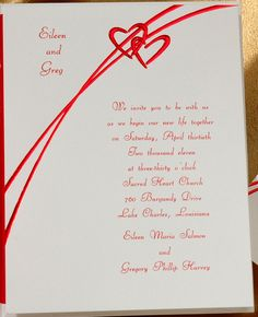 Romance is in the air when you choose this cherry foil hearts invitation. Your names are featured at the top of this bright white card. Heart Wedding Invitations, Burgundy Wedding Invitations, Lake Charles, Sacred Heart, Photo Cards, Holiday Cards, Prints, Cherry, Hearts