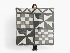 Tapa Cloth Pattern Scarf | Scarves | by Eclectic at HeART