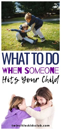Twin Cities Kids Club Blogs:  What to do When Someone Hits Your Child - Few things trigger us more as parents than when someone hurts our child. If someone hits my child, many moms and dads have thoughts of wanting to return the favor. But what if the person who hits your child is a child themselves?  #parenting #parentingtips #parentinghacks #parenting101 #parentinghumor Step Parenting, Parenting Humor, Parenting Hacks, Our Kids, My Children, Educational Crafts, Twin Cities, When Someone, Fun Learning
