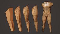 // Model legs in Maya by Jahirul Amin