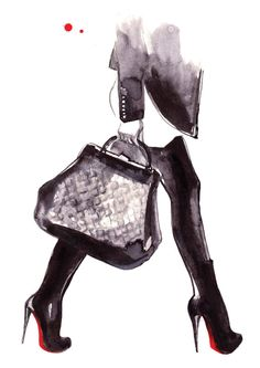 Fashion Illustration Print LOUBOUTINS by studiodelafosse on Etsy, €15.00