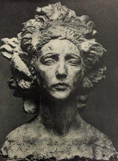 "Бурдель. Antoine Bourdelle. ""Чилийка"" гипс, 1921"