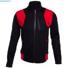 Spyder Men Legend 3L Mid Weight Stryke Shell Jacket – Black Red