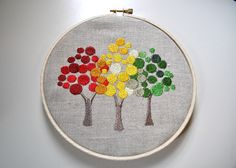 SacreCoeurVintage on Etsy  Great Embroidery Hoop art