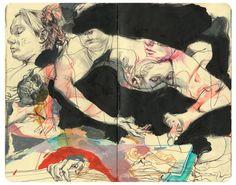 James Jean's 2009 Moleskine Life Drawing, Figure Drawing, Painting & Drawing, Drawing Tips, Body Painting, Kunstjournal Inspiration, Sketchbook Inspiration, Kunst Inspo, Art Inspo