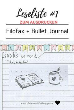 Freebie - Klick auf das Bild und du kommst zu zwei kostenlosen Freebies zum Ausdrucken: Leseliste für FILOFAX und BULLETJOURNAL