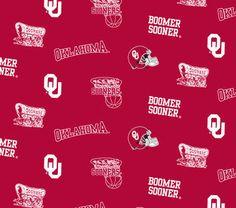 University of Oklahoma NCAA All-over Cotton Fabric