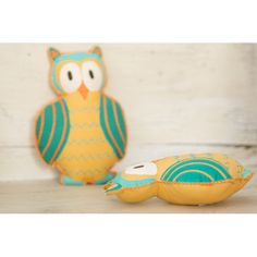 "My Owl  With two big eyes, My Owl can look here and there and everywhere.  Can you see what she sees?  Approximately 9.5"" x 7""  Made in India 100% cotton, Azo free dyes and polyfill. Age Range: 0 to 4 years     Care: Dry clean or hand wash separately in cold water only. Air Dry.  D..."