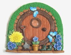 Terracotta Hobbit Style Fairy Door | Flickr - Photo Sharing!