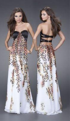 la femme cheetah print prom dress