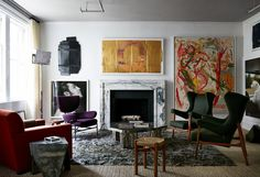 Living Room in New York, NY by Kips Bay Decorator Show House
