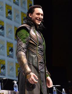 "Tom Hiddleston as ""Loki"" at the San Diego Comic-Con 20.7.2013 http://marvel.com/videos/watch/2810/loki_at_san_diego_comic-cons_hall_h"