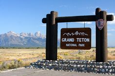 Grand Teton National Park Entrance Sign by Lance and Erin, via Flickr