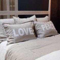 Pom Pom at Home Bedding Love/Peace Pillow Sham Set.