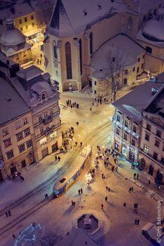 Lviv (Ukraine) in Winter                                                       …
