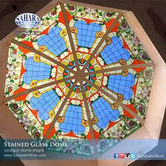 stained glass dome with Octagon shape,  modern design inspired to built this stained glass dome.