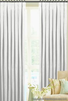 Custom Tailored Pleat Drapes in Velvet Blush Fabric Curtains And Draperies, Pleated Curtains, Sheer Drapes, Pillow Slip Covers, Drapery Designs, Custom Drapes, Stores, Window Treatments, Blinds