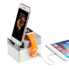NEXGADGET Multifunctional Charging Stand Dock Holder Cradle [17W 3.4A Max] Desktop Charger for Apple Watch, Fitbit Charge HR, Fitbit Blaze, iPhone, iPad, Samsung and Most of USB-powered Devices. *** You can get more details by clicking on the image.