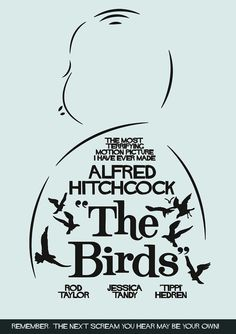 The Birds (1963) ~ Minimal Movie Poster by Stefano Reves