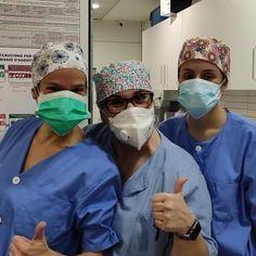 Mucha fuerza a los héroes del Hospital de Bellvitge.  Gorros confeccionados con nuestros algodones. Gracias @sarukamt  www.cukistore.es Faces, Activities, Surgical Caps, Caps Hats, Thanks, Face