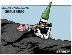 Viñeta de J R Mora sobre el ataque a Charlie Hebdo.