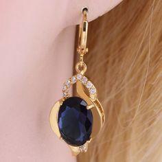 Pair of Vintage Rhinestone Faux Gemstone Earrings