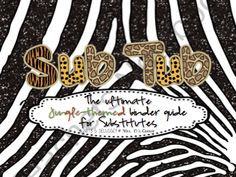Sub Tub - Jungle Safari Theme - Ultimate Substitute Binder Guide from Mrs _Ds_Corner on TeachersNotebook.com (90 pages)  - sub tub, subtitute binder, binder guide, jungle theme, safari theme, classroom management