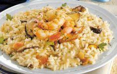 Risotto mari e monti - La ricetta del risotto mari e monti è facile e veloce e porterà in tavola il profumo del mare e i sapori forti della montagna. Un connubio vincente.