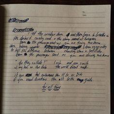 ben gibbard's original lyrics to passenger seat. september 13, 2001
