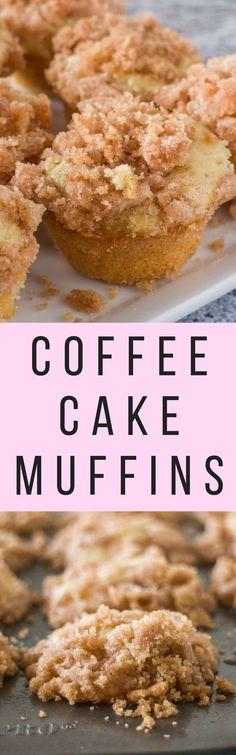 Easy Mini Coffee Cake Muffins recipe with a cinnamon sugar crumble on top! These fluffy moist muffins are so quick to make! Recipe makes 16 mini muffins. Mini Desserts, Delicious Desserts, Yummy Food, Easy Desserts, Individual Desserts, Japanese Desserts, Italian Desserts, Lemon Desserts, Healthy Desserts