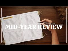 Mid-Year Review Bullet Journal Spread + Prompts for Self-Reflection - YouTube Bullet Journal 2020, Bullet Journal Spread, Annual Review, New Things To Try, Bujo, Prompts, Reflection, Self, How To Plan