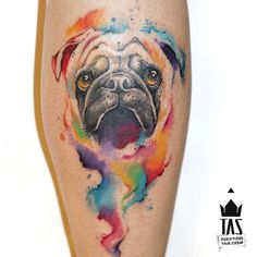 Pug one... #tas #rodrigotas #usoelectricink #electricink #watercolortattoo #dotworktattoo #pontilhismo #aquarela #pug #dogtattoo #tatuagem #tatuaje #inspirationtatto #tattoodesign #equilattera #tattrx #tattooartistmagazine #tattoocollectors #inkedmag #tattooculturemagazine #tattoaria #tattooistartmag #inkedmag #gettinginked #crazyytattoos