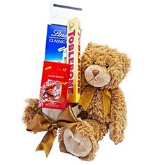 Teddy Bear Love. All teddy bears are sent in red stripy gift boxes for maximum impact. Order your teddy bears ... Large Milk Chocolate Lollipop with Smarties.