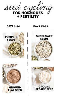 This is a comprehensive post with everything you need to know about seed cycling for hormones and fertility! Read on to learn what seeds to use, how to store them, who should seed cycle, why it works and how to incorporate it into your daily routine! Foods To Balance Hormones, Balance Hormones Naturally, Flax Seed Benefits, Seed Cycling, Women's Cycling, Cycling Jerseys, Fertility Foods, Pcos Diet, Diet Foods