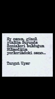 Ey canım, güzel yüzlüm. ... Turgut Uyar