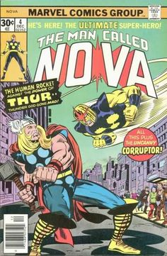 Human Rocket - Thor - Crossover - Corrupter - Hammer - Adi Granov, Jack Kirby Nova 4 marvel comics covers the man called