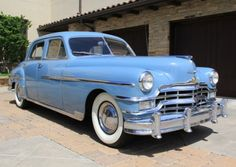 This 1947 Chrysler New Yorker sedan  is a mechanically sorted driver that was pulled out of long-term storage by the previous owner. The car has had one re-paint in the original blue, but the engine bay, trunk, and door jambs still wear the factory paint with original inspection stamps and paper decals intact. The 68k miles showing are believed to be original, and the seller says that the car runs and drives fantastically with a Spitfire Straight-8. In Witchita, KS for $6500 - seems like a…