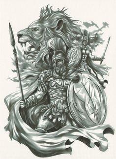 Warrior tattoo sleeve, warrior tattoos, back tattoos, god tattoos, eagle . Tattoo Design Drawings, Tattoo Designs Men, Body Art Tattoos, Sleeve Tattoos, Tattoo Art, Gott Tattoos, Spartan Tattoo, Greek Mythology Tattoos, Roman Mythology