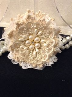 Handmade lace flower Created by Latinaloveslace Etsy