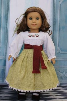 American-Girl-Doll-Josefina-Harvest-Outfit-Complete-with-Green-Ribbon