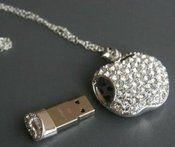 Image of [gryxh31000009]16G USB flash drive apple crystal Creative gift