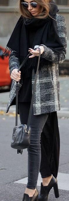Fashion and style: Long blazer #fashion