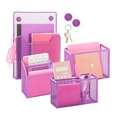 Modern Locker Organization Kit in Purple (Diy School Survival Kit) Middle School Lockers, Middle School Supplies, Middle School Hacks, School Kit, Diy School Supplies, Locker Supplies, School Ideas, Office Supplies, School Projects