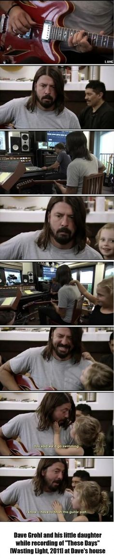 adorable moment..Back and Forth See Video another pin , Dave Grohl's daughter Violet interrupts him in the recording studio to remind him that he said they'd go swimming.Dave Grohl's Daughter Wants To Go Swimming youtube channel Gresh Appleton