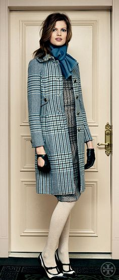 Tory Burch Virginia Glen Plaid Coat