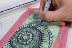 drawing a design with sharpie