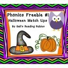 Phonics Freebie #1  Halloween Match Ups  This is perfect to use with Pre-K and Kindergarten students! I used  black line pages as well as color pag...